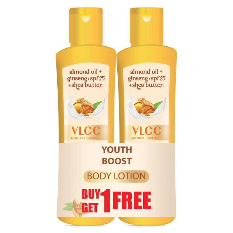 VLCC Youth Boost Body Lotion SPF 25| PA+++ (Buy 1 Get 1)