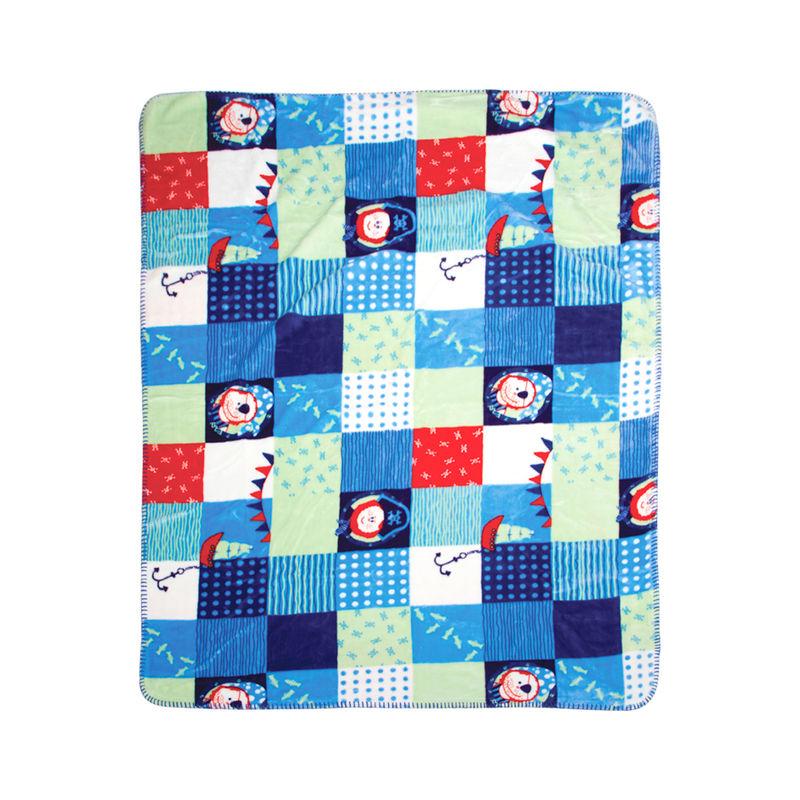 Mee Mee Cuddle Up Reversible Baby Blanket - Light Blue