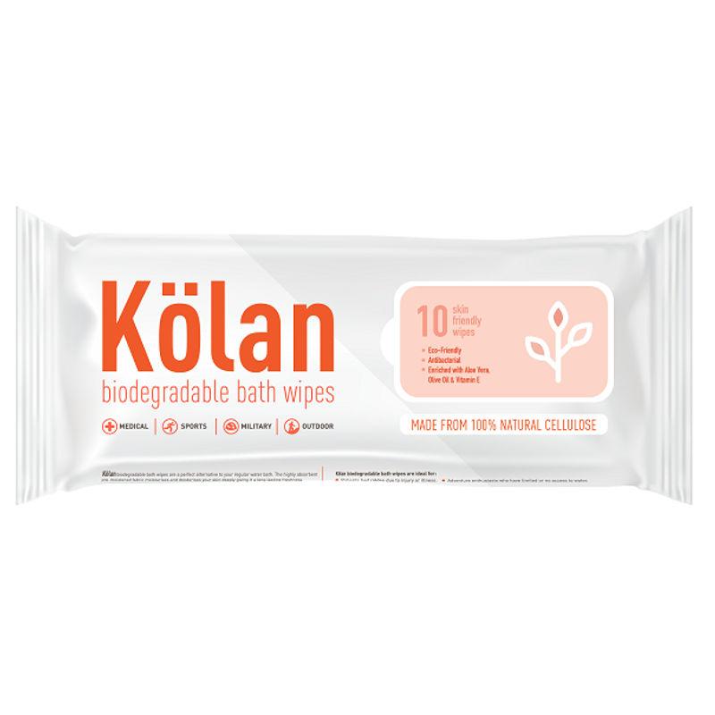Kolan Eco-Friendly Biodegradable Bed Bath Wipes - 10 Pieces