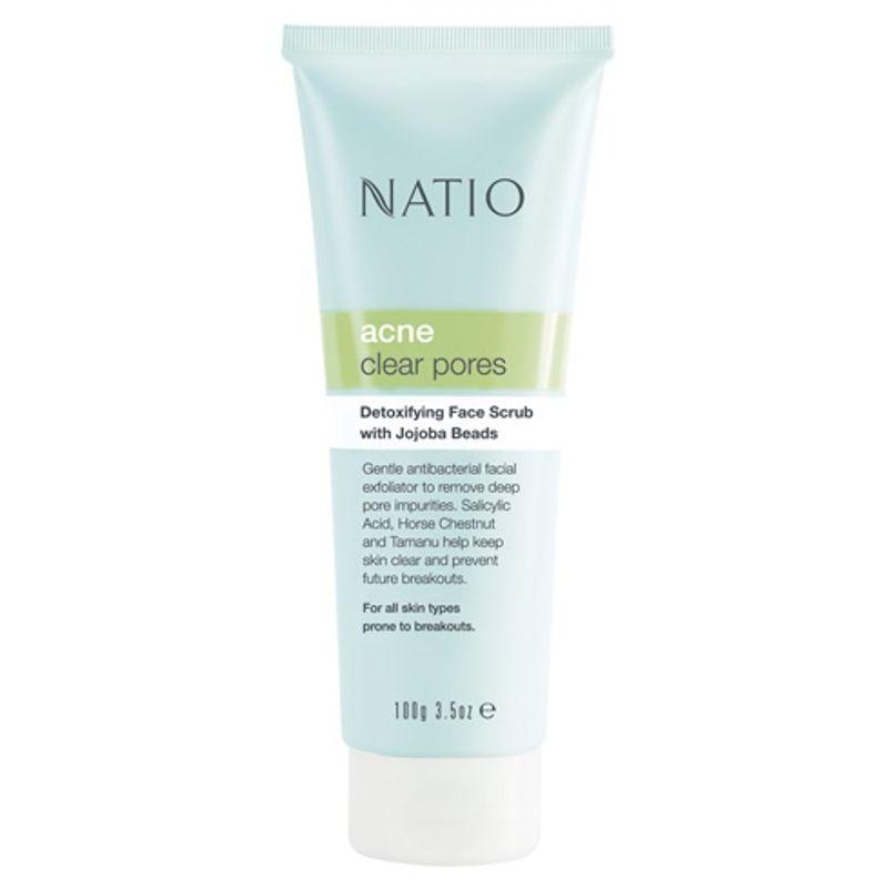 Natio Acne Clear Pores Detoxifying Face Scrub With Jojoba Beads