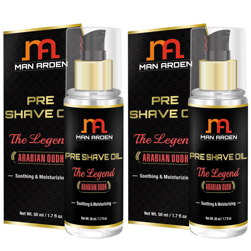 Man Arden Pre Shave Oil - The Legend (Pack Of 2)