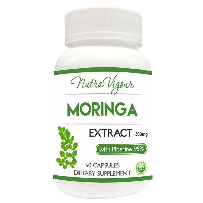 Nutravigour Organic Moringa Extract Dietary Supplement - 60 Capsules