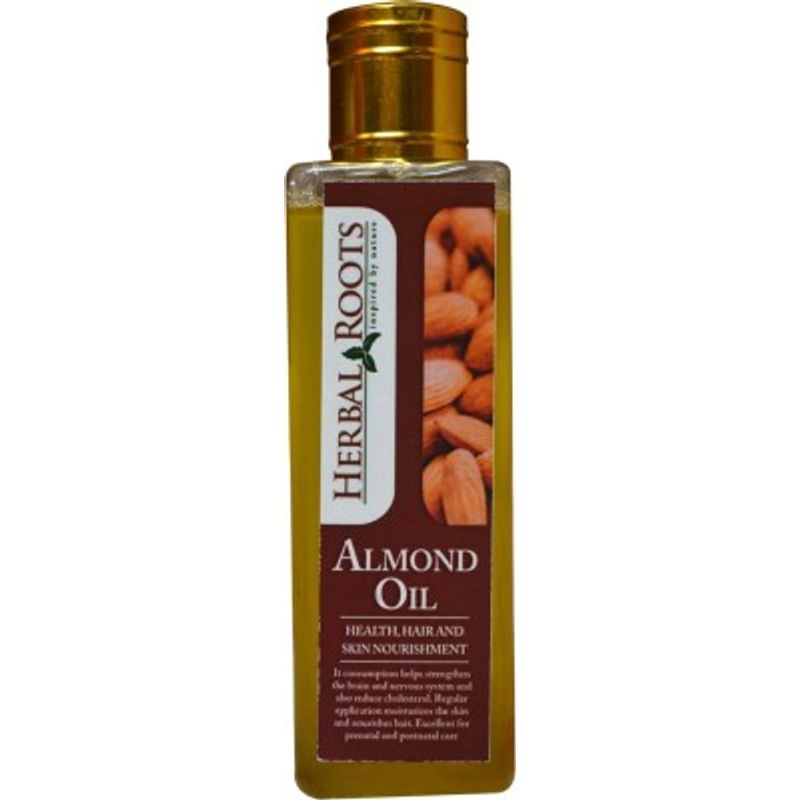 Herbal Roots Pure Almond Oil - Health, Hair And Skin Nourishment