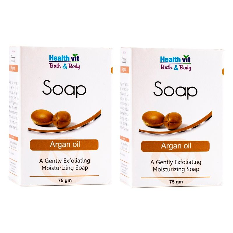 HealthVit Bath & Body Argan Oil Soap (Pack Of 2)
