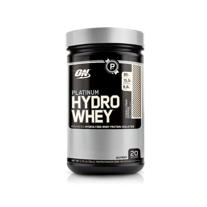 Optimum Nutrition (ON) Platinum Hydro Whey Protein Powder (Cookies & Cream Overdrive)