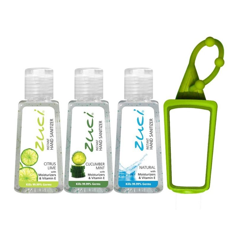 Zuci 30 Ml Citrus Lime, Cucumber Mint, And Natural Hand Sanitizer With Bag Tag