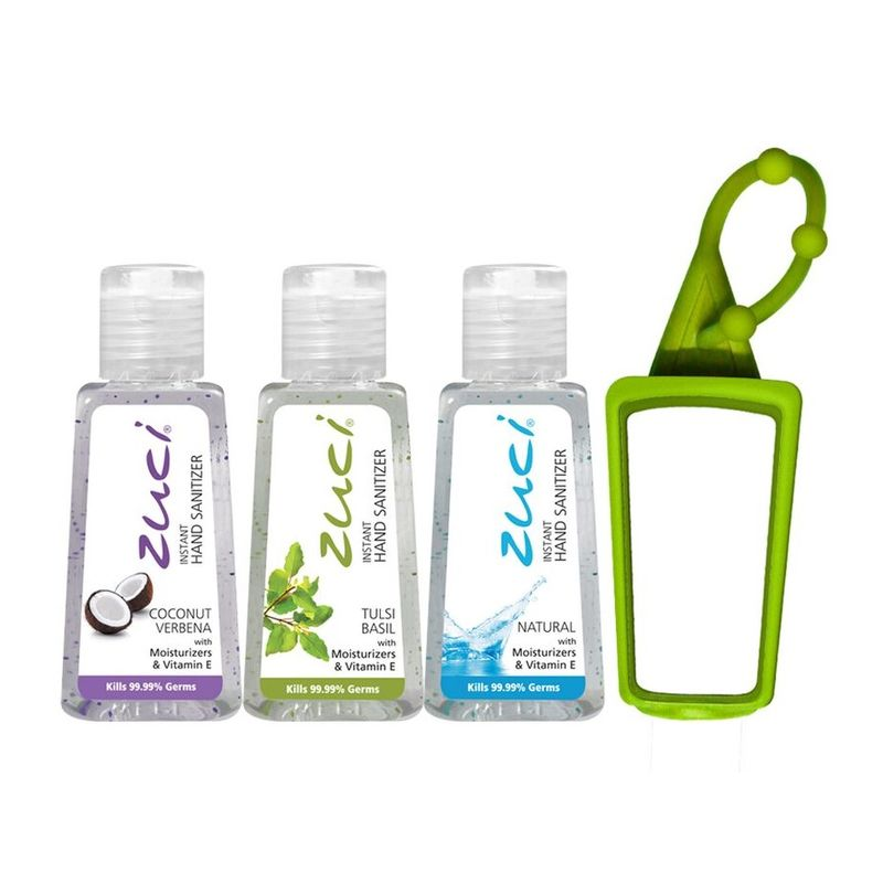 Zuci 30 Ml Coconut Verbena, Tulsi And Natural Hand Sanitizer With Free 1 Bag Tag