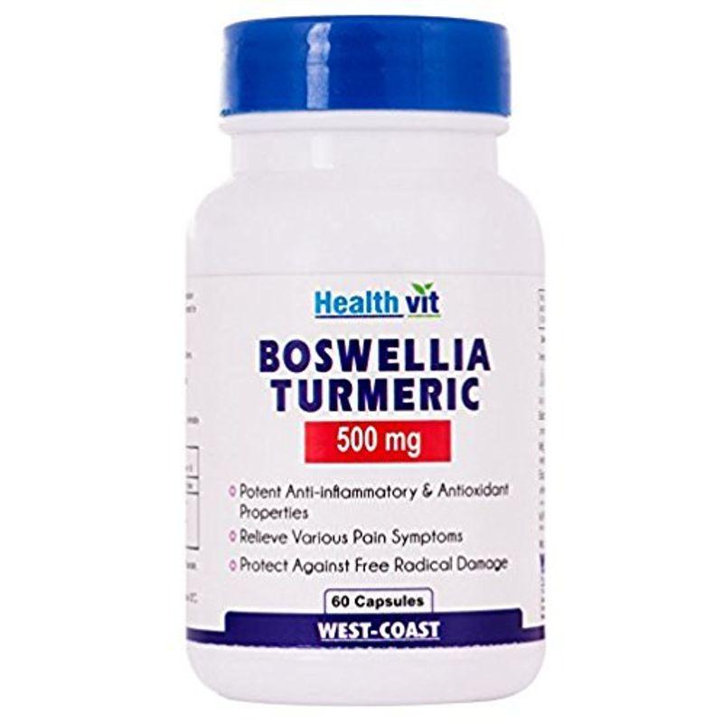 HealthVit Boswellia Turmeric 500Mg Extract 60 Capsules
