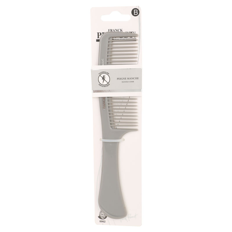 Franck Provost Detangling Hair Comb With Handle - Grey