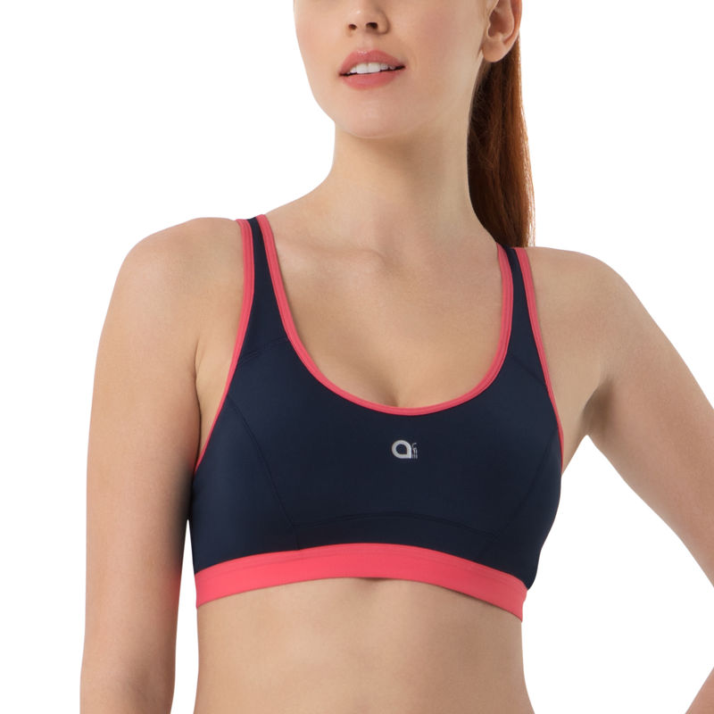 d2b402e2c4 Amante Sports Bra - Buy Amante Blue Padded Non-Wired Sports Bra Online in  India