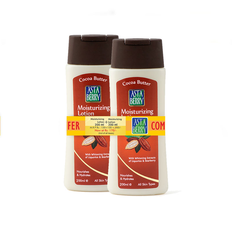 Astaberry Cocoa Butter Moisturizing Lotion Combo - (Each 200 Ml) Save Rs.90