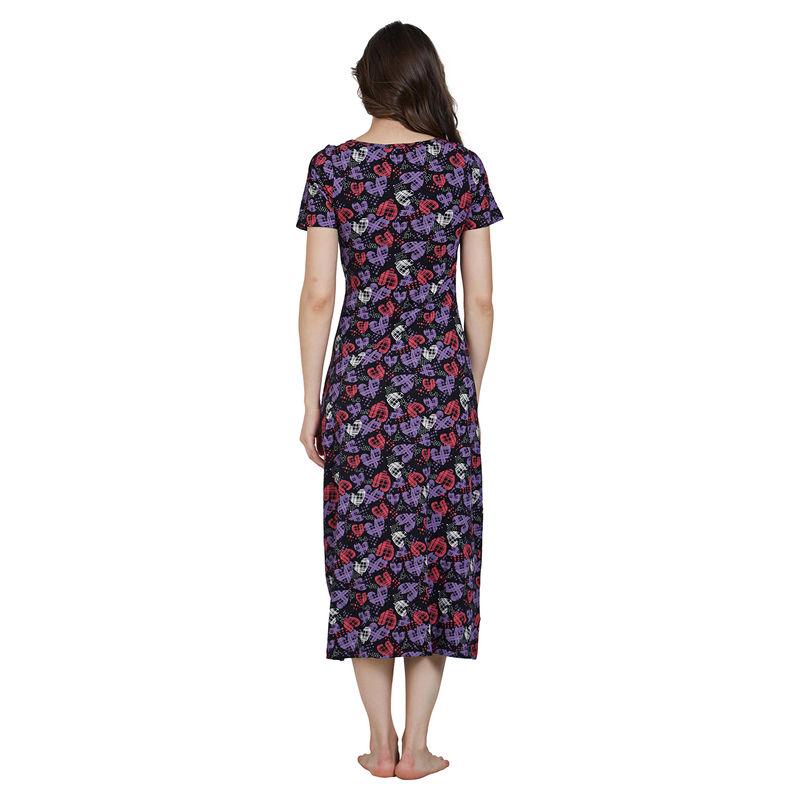 d148580e69 Blush By Prettysecrets Cotton Long Night Dress - Multi-Color at nykaa.com