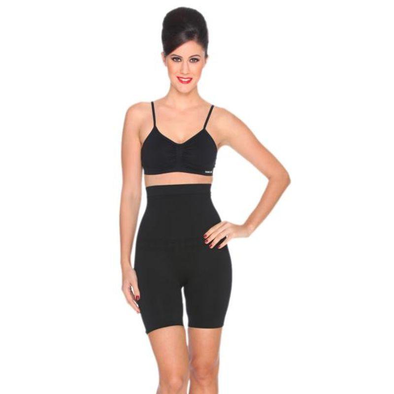 b8e1e5fb7a C9 Seamless High Control Thigh Black Women Shapewear - Black (L) at  Nykaa.com