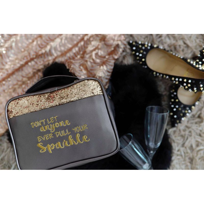 Organice Charcoal Glitter Don't Let Anyone Ever Dull Your Sparkle Organizer