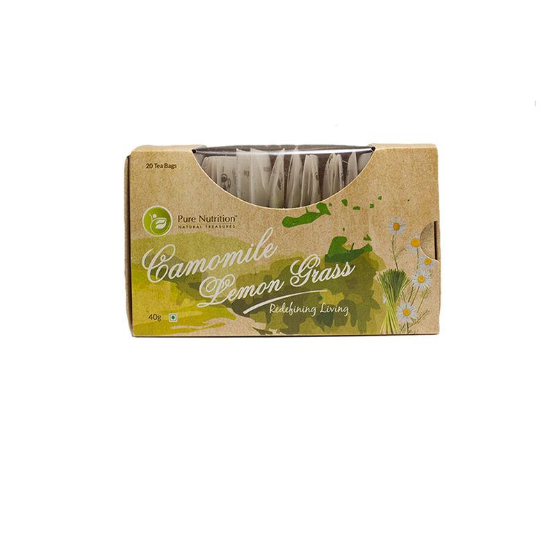 Pure Nutrition Camomile Lemon Grass Tea Bags