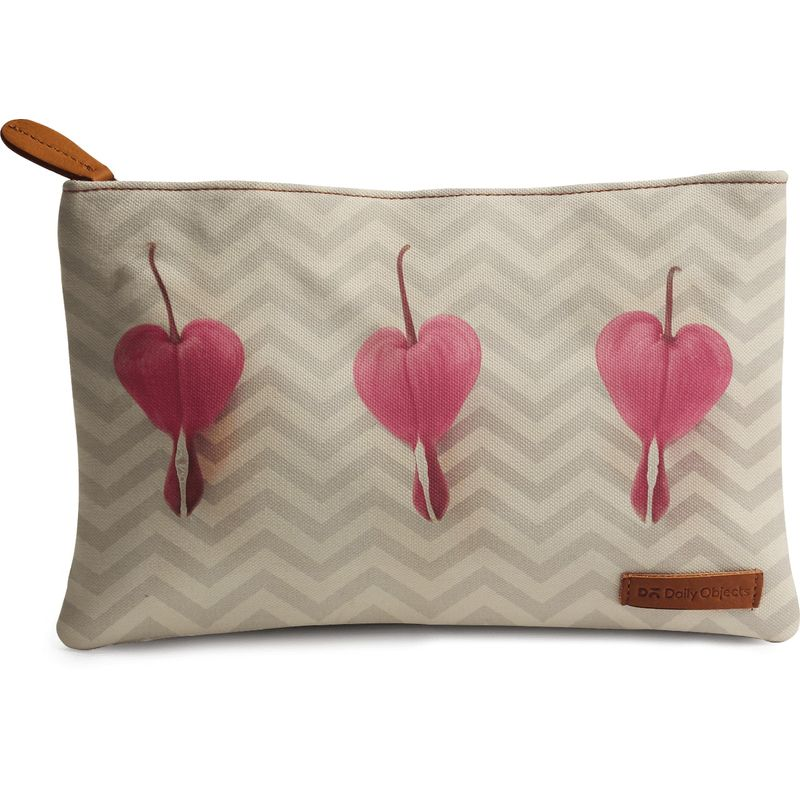 DailyObjects Chevron Hearts Carry-All Pouch Medium