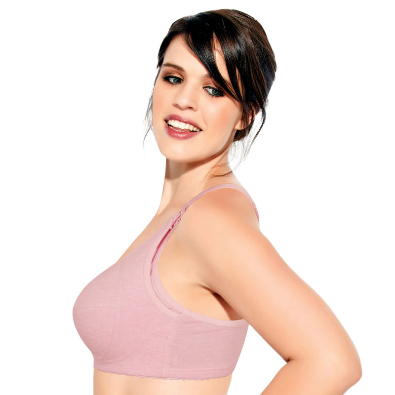 b6a90e7433 Enamor MT02 Layer Side Support Nursing Bra - Non-Padded   Wirefree - Pink  at Nykaa.com