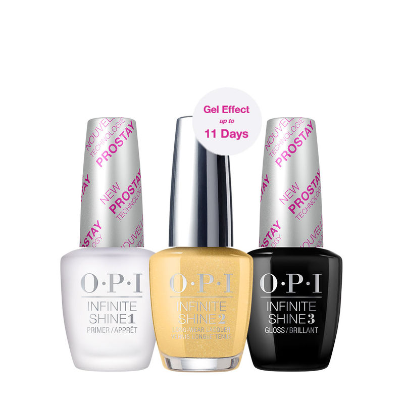 O.P.I Infinite Shine 3 Step Set - Enter The Golden Era