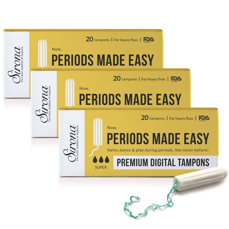 Sirona Premium Digital Tampon - Heavy Flow (Pack Of 3)