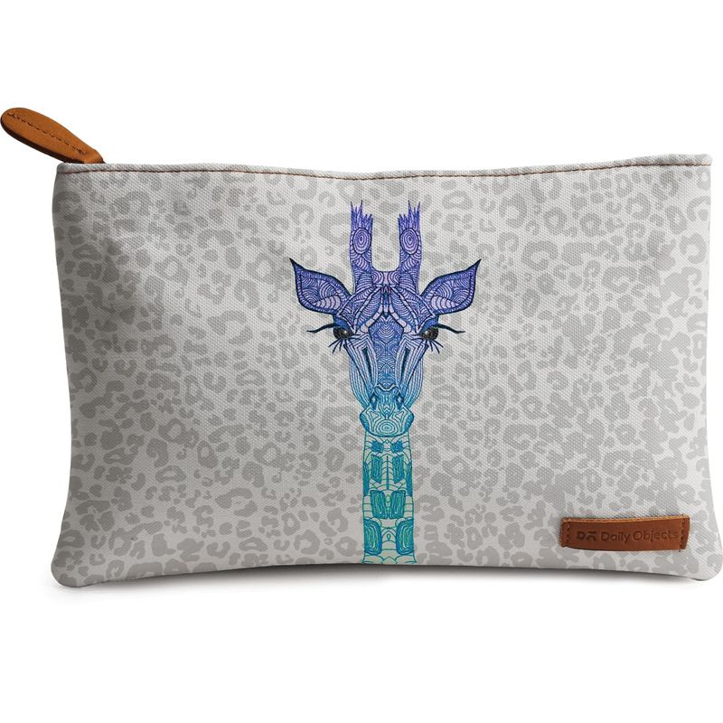 DailyObjects Giraffe On Leo Print Carry-All Pouch Medium