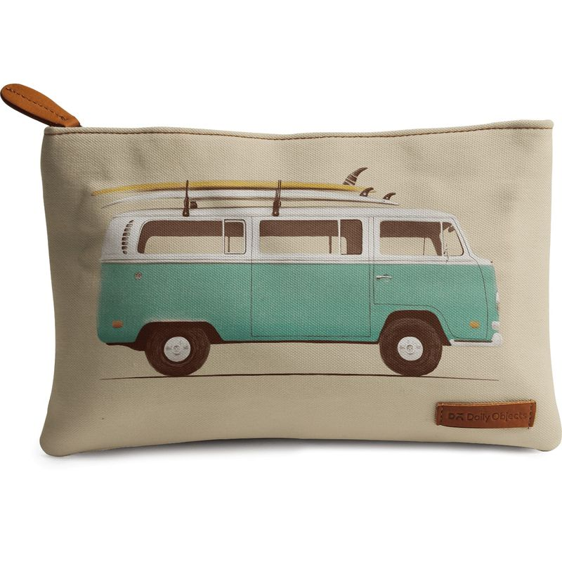 DailyObjects Green Van Carry-All Pouch Medium