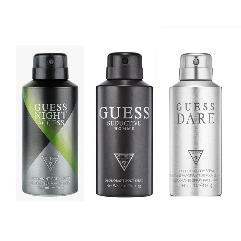Guess Seductive Homme, Dare Homme & Night Access Deodorant For Men Pack Of 3
