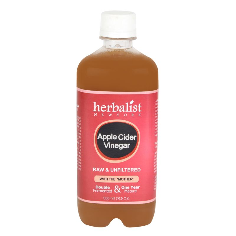 Herbalist Apple Cider Vinegar, Raw, Unprocessed And Unrefined With Mother Vinegar