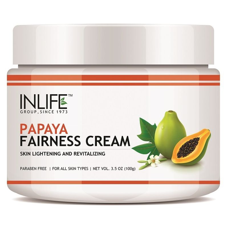 INLIFE Natural Papaya Fairness Cream Moisturizer For Both Men And Women