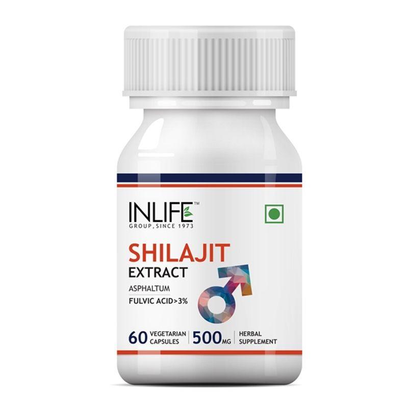 INLIFE Shilajit Extract 500mg (60 Veg. Capsules)