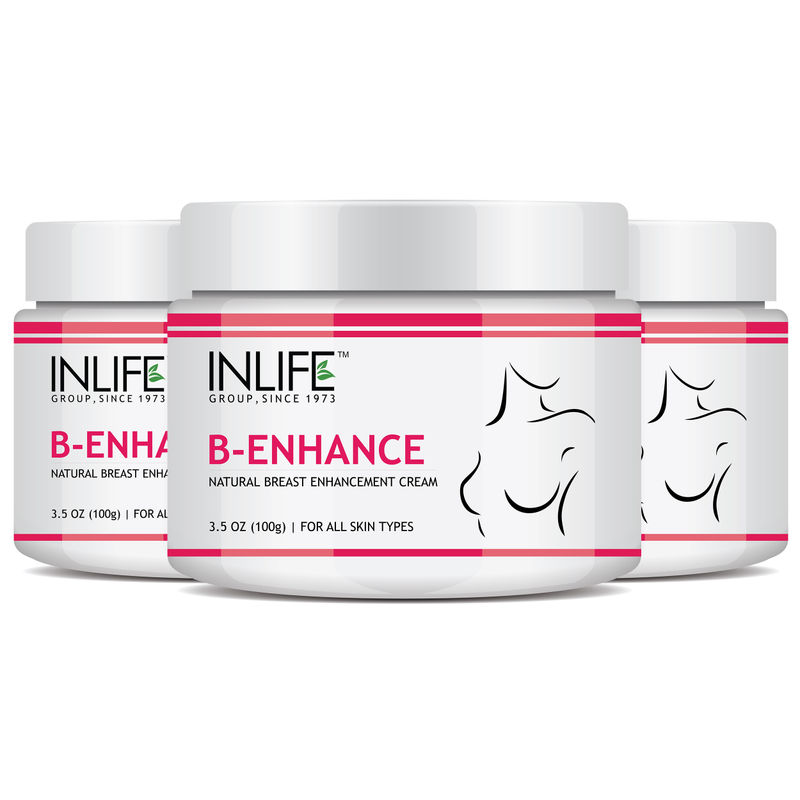 INLIFE Natural Breast Enlargement Cream For Improvement In Breast Size Pack Of 3
