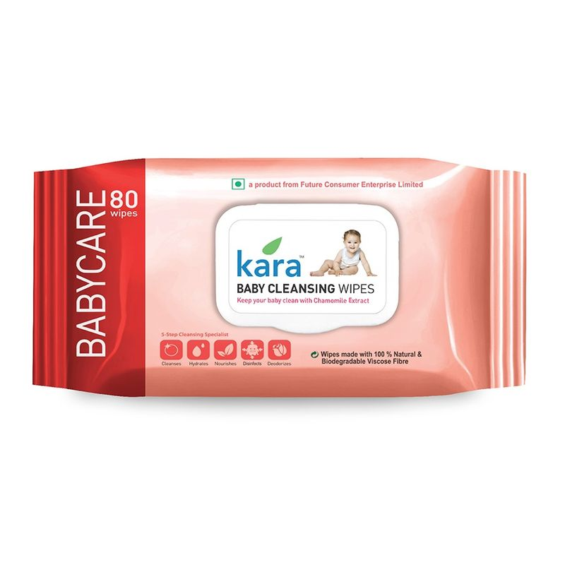 Kara Baby Cleansing Wipes 80P