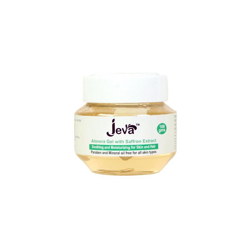 Jeva Pure Aloe Vera Gel With Saffron - For All Skin Types
