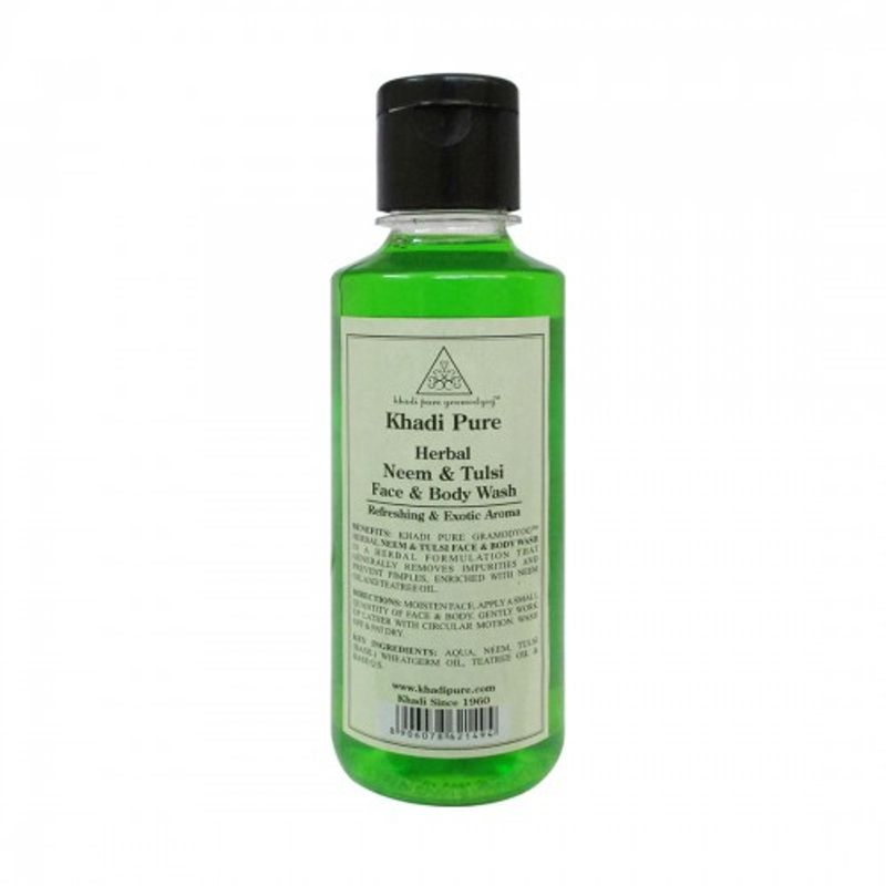 Khadi Pure Herbal Neem & Tulsi Face And Body Wash
