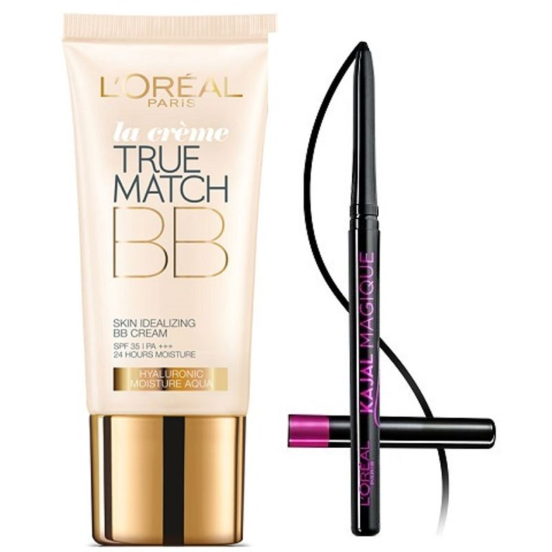 L'Oreal Paris True Match BB Cream - Gold + Free Kajal Magique