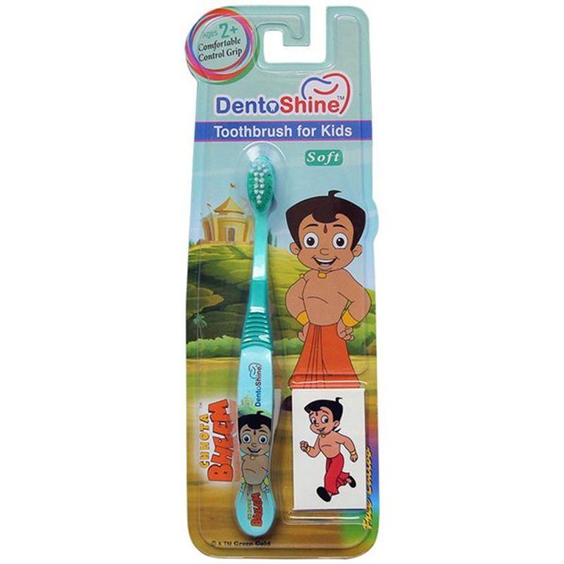 DentoShine Chhota Bheem Comfort Grip Toothbrush For Kids - Green