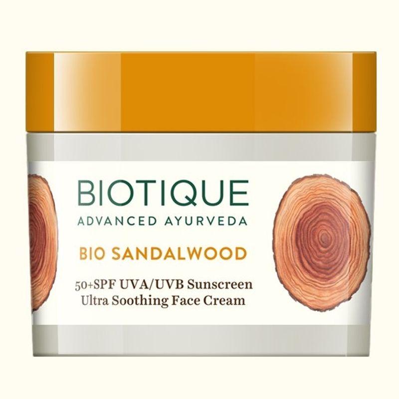 Biotique Bio Sandalwood Ultra Soothing Face Cream SPF 50 UVA/UVB Sunscreen