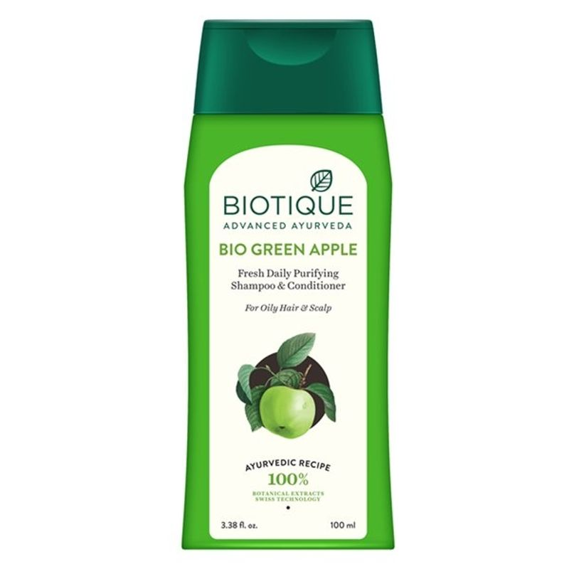 Biotique Bio Green Apple Fresh Daily Purifying Shampoo & Conditioner - 8906009453798