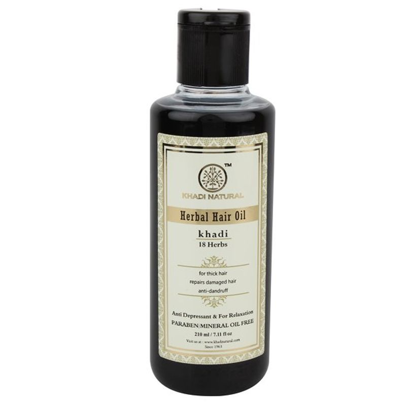 Khadi Natural 18 Herbs Herbal Hair Oil (Anti Depressent And For Relaxation)