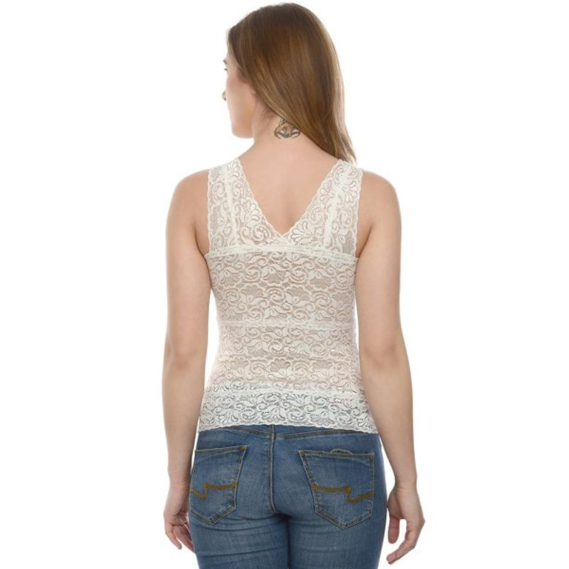 Da Intimo White Sexy Lace Padded Camisole at Nykaa.com 91abaf20c