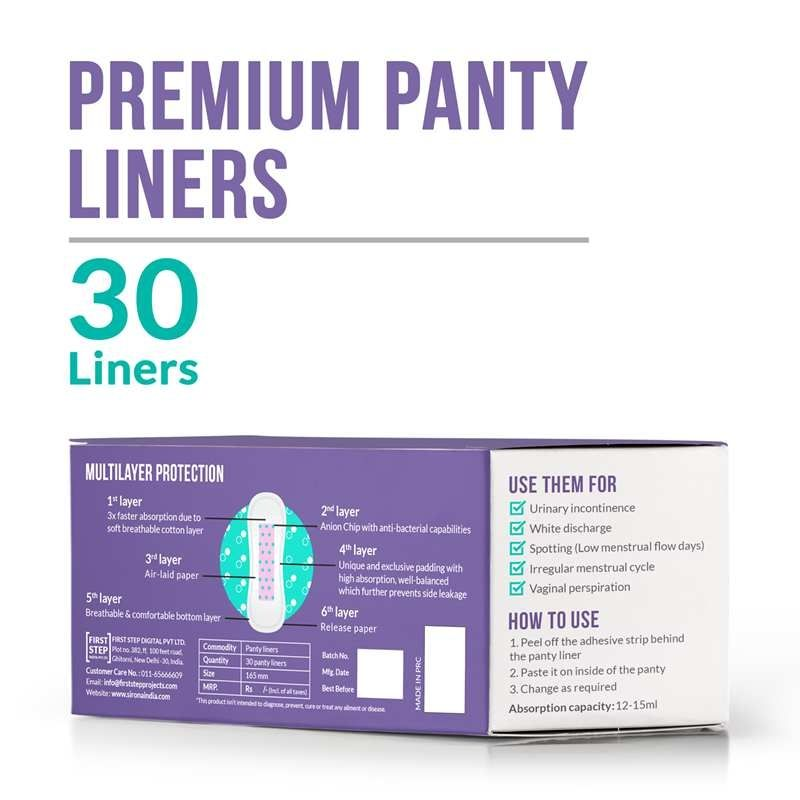 Sirona Ultra-Thin Premium Panty Liners Made With Organic Cotton (Low Flow)