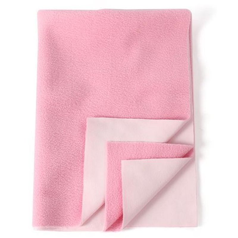 Mee Mee'S Baby Total Dry & Breathable Mattress Protector Mat - Pink (M)