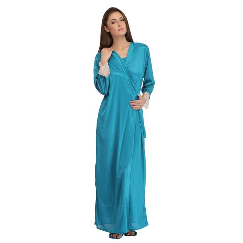 Clovia 7 Pc Satin Nightwear Set - Blue (Free) at Nykaa.com 32483803d