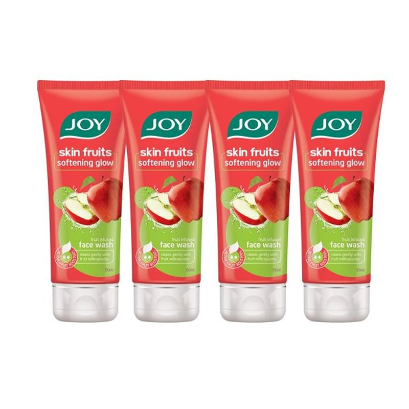 Joy Skin Fruits Softening Glow Apple Face Wash (Pack Of 4)