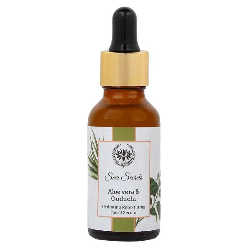 Seer Secrets Aloe Vera & Guduchi Hydrating Retexturing Facial Serum