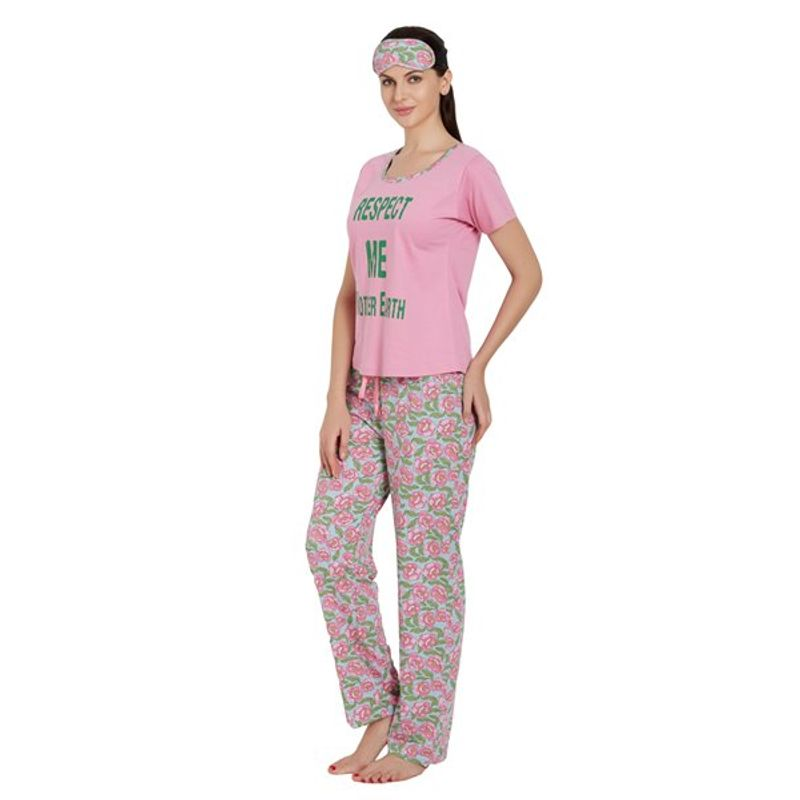 874d8451da238 Libertina Pink Color Cotton Hosiery Tshirt   Pajama Set For Women at  Nykaa.com