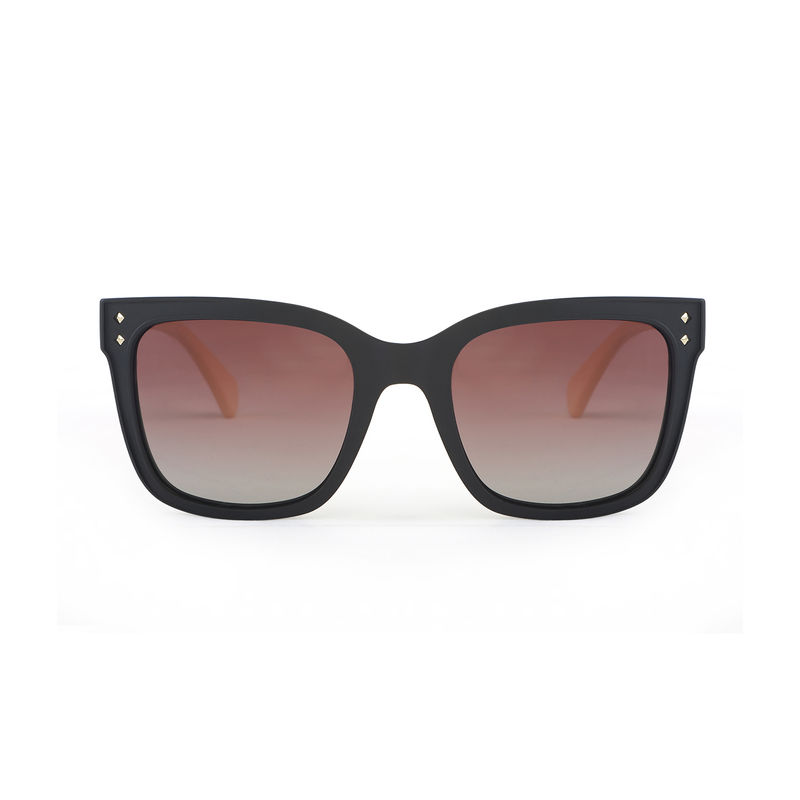 79cda3e634f Marie Claire MC007 C1 Retro Square Polarized Sunglasses - Black at Nykaa.com