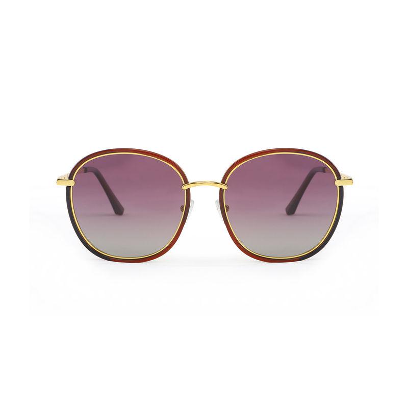 4392ea8d5ea Marie Claire MC009 C4 Over-sized Polarized Sunglasses - Burgundy at  Nykaa.com