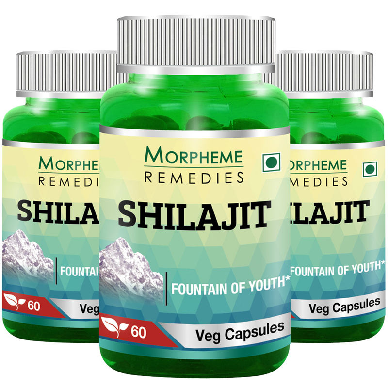 Morpheme Shilajit 500mg Extract 60 Veg Caps - (3 Bottles)