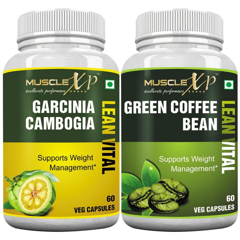 MuscleXP Garcinia Cambogia Lean Vital Capsule + Green Coffee Bean Lean Vital Capsule(60 Capsules x 2)