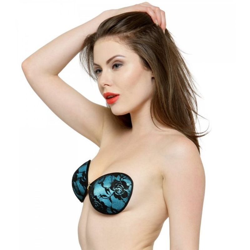 545ff595e0 N-Gal Studded Floral Lace Front Closure Self Adhesive Blue Invisible Stick  On Backless Strapless Bra at Nykaa.com